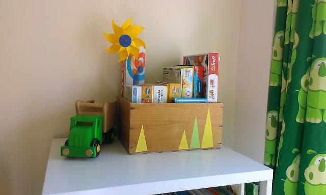 pudełko w skandynawskie wzory DIY