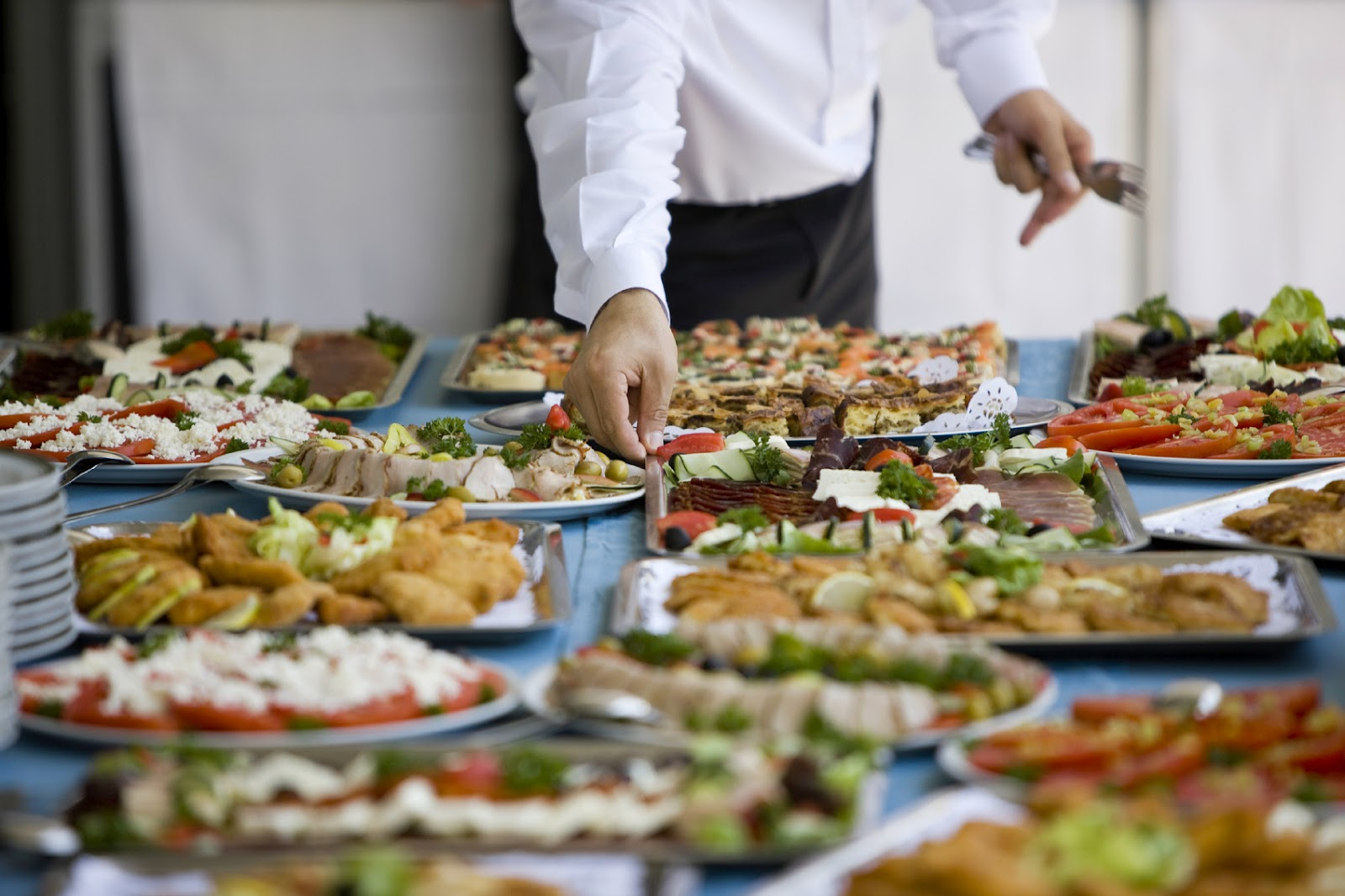 How to hire a server or party helper for your next party - Buffet table images ...
