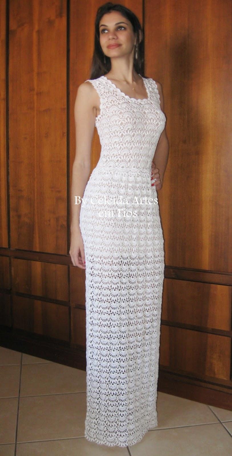 Свадебное платье связанное крючком. Узор простой, но как шикарно выглядит