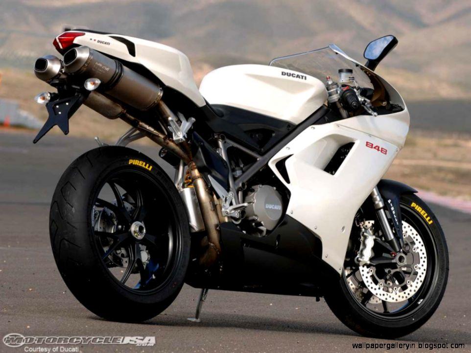 Ducati Superbike 848 Rear Angel View Cool Wall 13888 Wallpaper