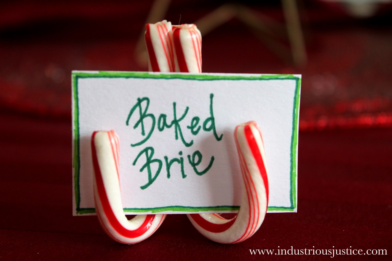 Table Card Holder Ideas diy christmas place card holders How Candy Cane Place Card Holders