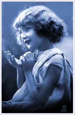 postal retro vintage de niño