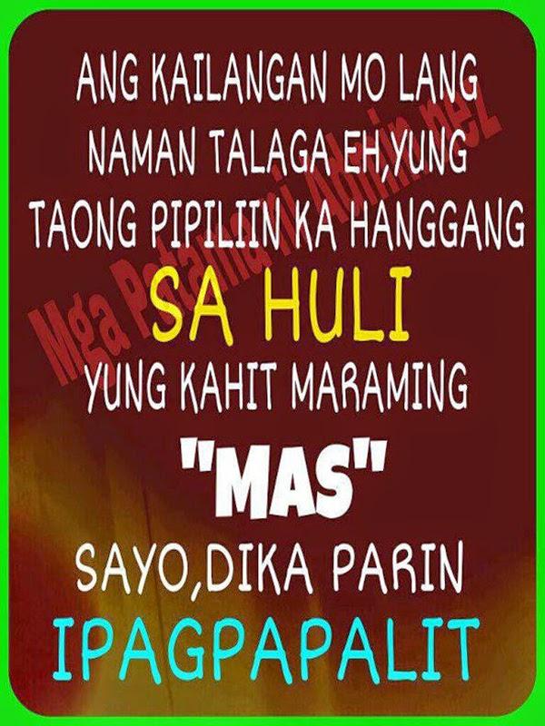 """Ang kailangan mo lang naman talaga eh, yung taong pipiliin ka hanggang sa huli. Yung kahit maraming """"mas"""" sayo, di ka pa rin ipagpapalit."""