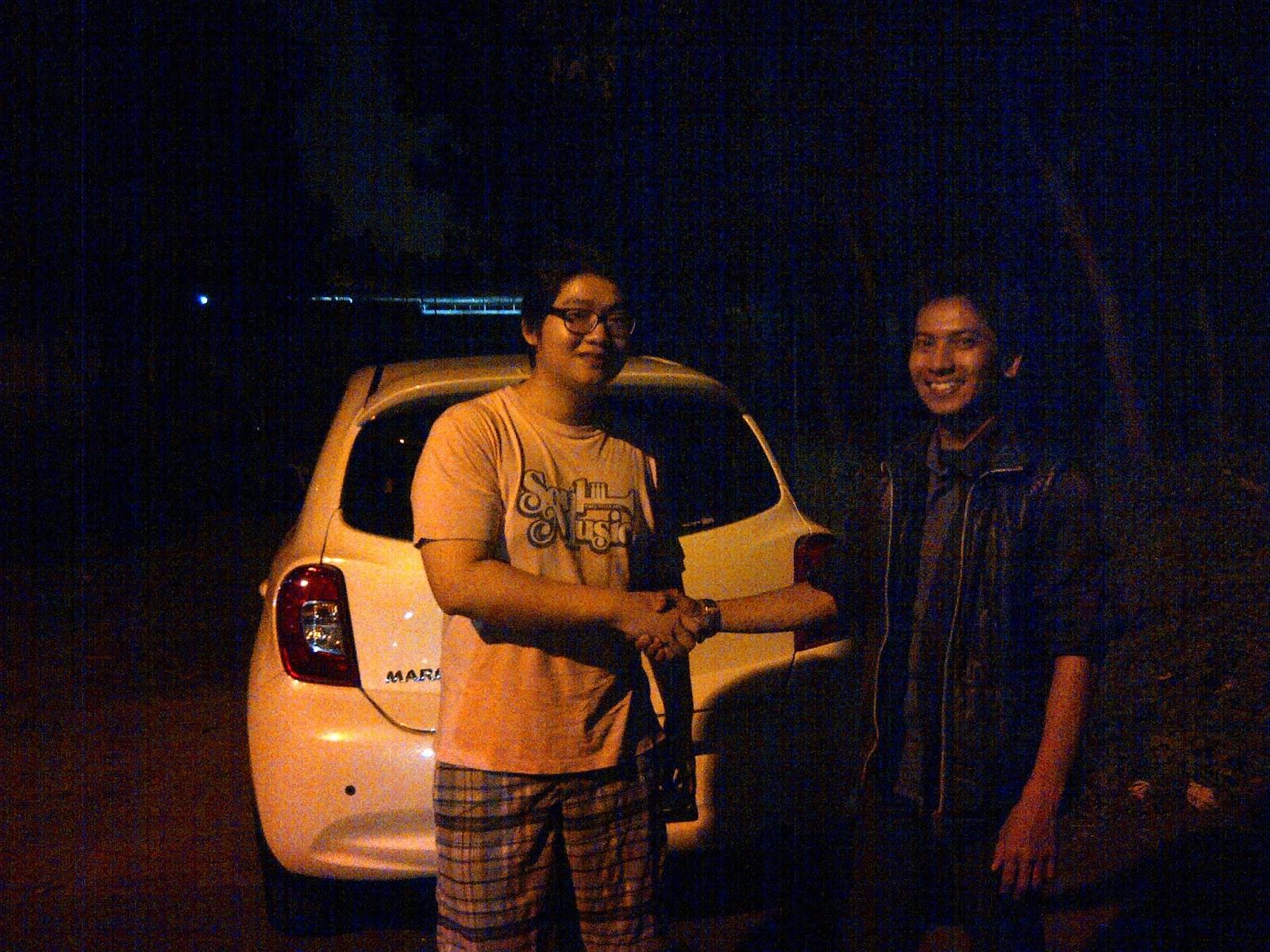 Terimakasih atas kepercayaan Ko Chandra & Ci Risiana yg telah membeli New March melalui media www.touchnissan.com.  Semoga Berkah ya Ko...