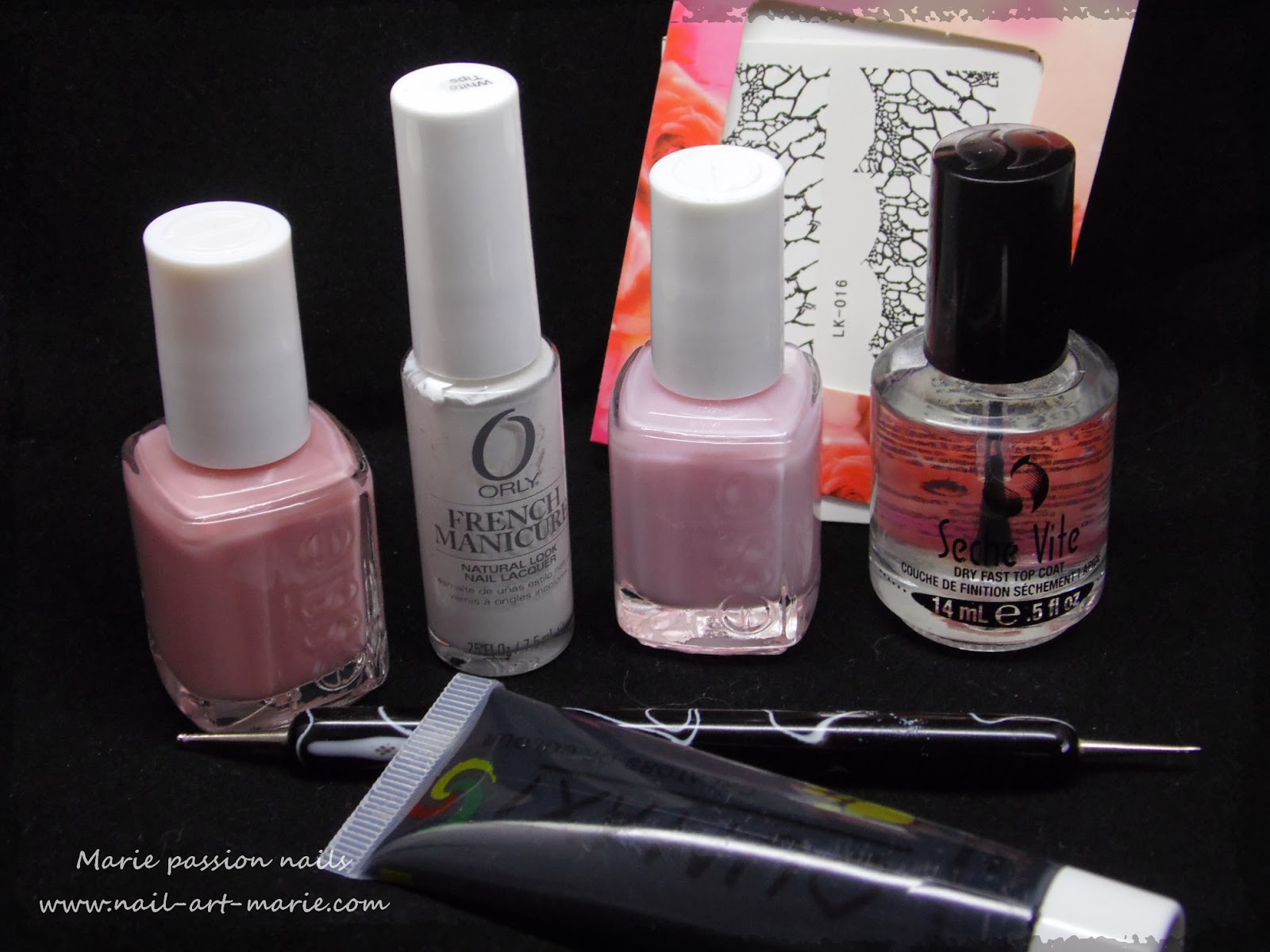 Nail art French effet faux ongles