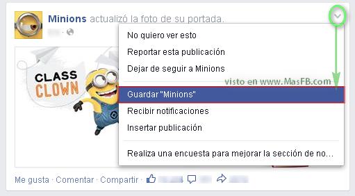 Cómo guardar contenido en Facebook - MasFB