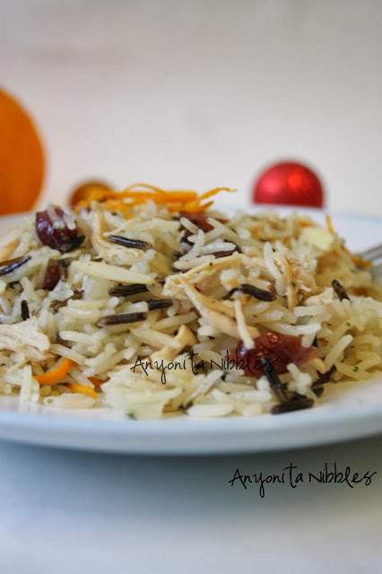 Wild rice with turkey and cranberry from www.anyonita-nibbles.com