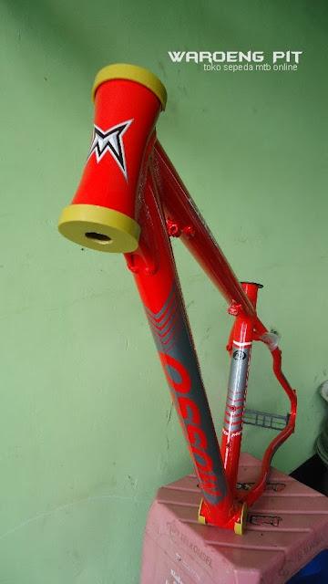 Jual Frame Sepeda Mtb Gunung Downhill Mosso 2606 merah murah