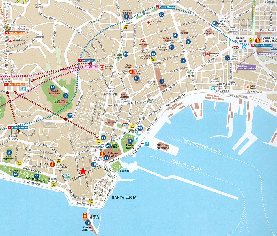 Seoul tv channel: Map of Naples, Italy