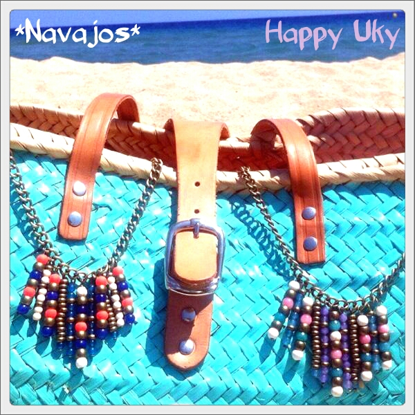 Collar Navajo handmade  verano summer Happy Uky