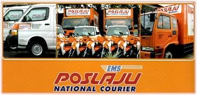 Kami akan melakukan penghantaran melalui perkhidmatan POSLAJU.