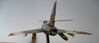 french 50s fighter-bomber Dassault Super Mystere B.2 scale model