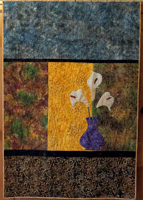 Calla Lily Quilt I made for my Mom at Christmas
