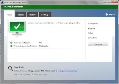Microsoft Security Essentials 4.3.216.0