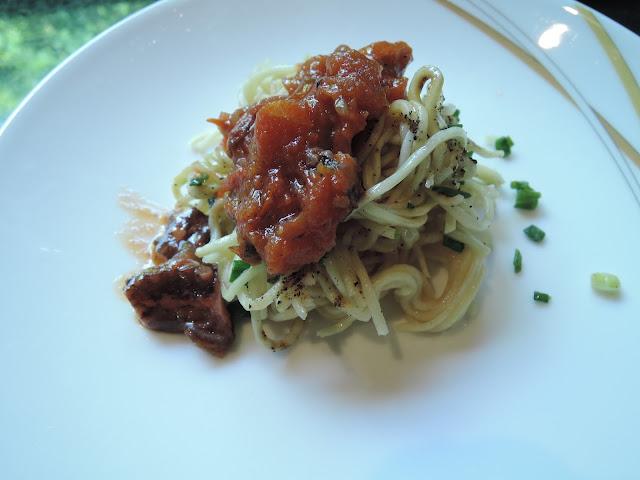 mauritian cuisine, meme's, rougaille, octopus, noodles