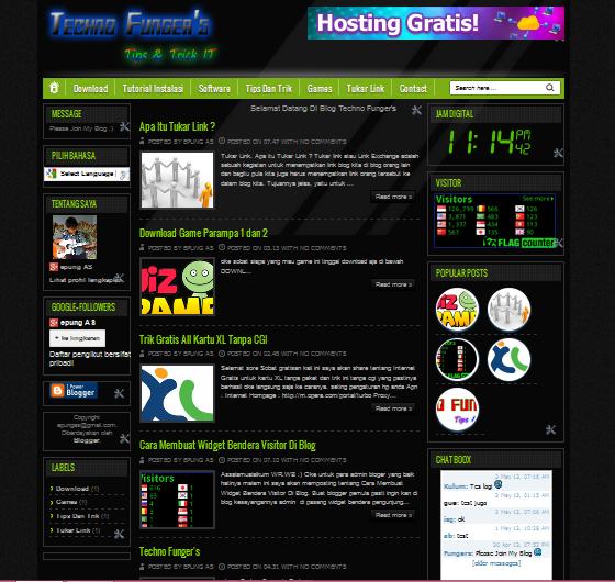 download template blog keren techno funger s