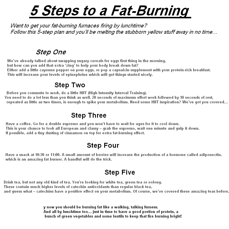The best way to burn fat from stomach pain