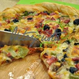 Yufkalı Karışık Pizza Tarifi