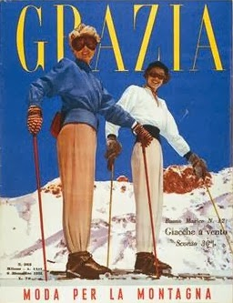 Bogner ski suit on the cover of Grazia Italia, Dec 1951