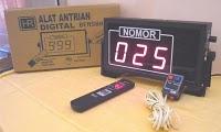 Alat Antrian Digital ini bisa di terapkan Untuk loket-loket pembayaran, Bengkel, Dokter praktek dll dan bisa di pakai buat 5 loket 1 layanan.