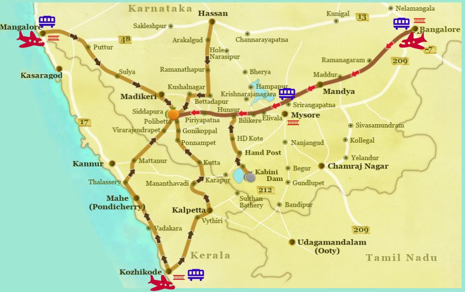 mysore guide map