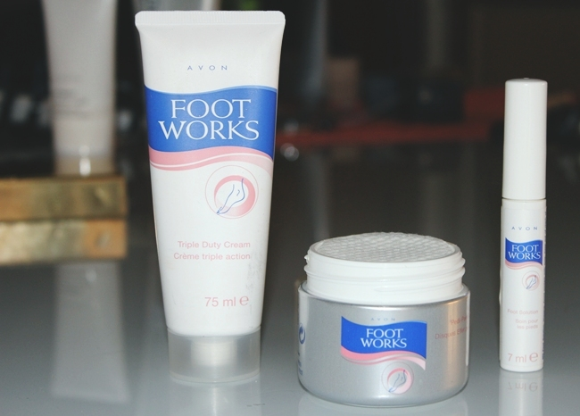 "Instagram @lelazivanovic. Avon ""Foot Works"" products."