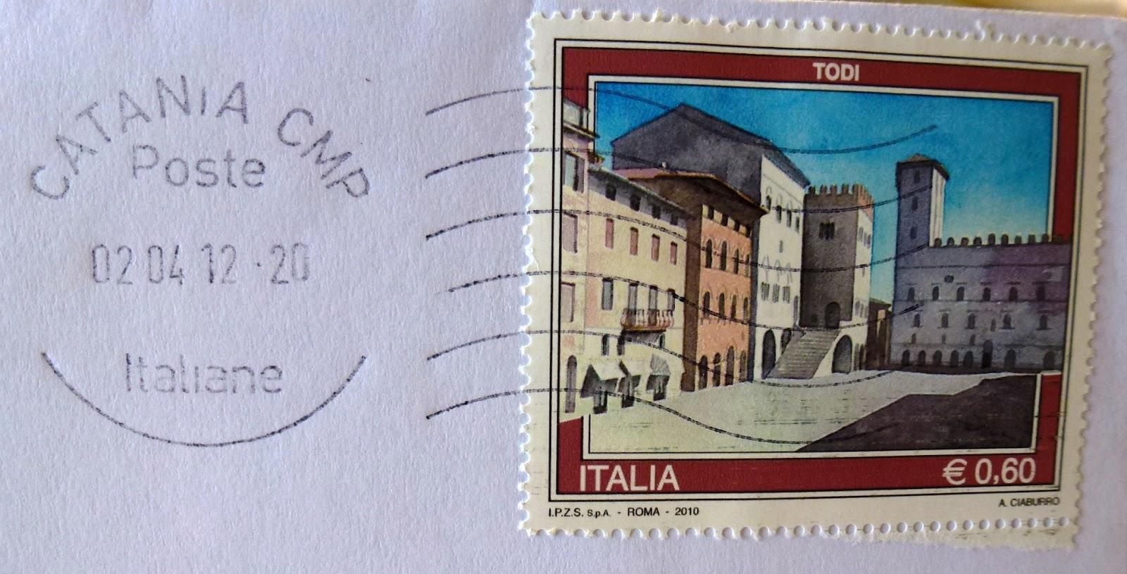 francobollo Todi € 0,60 e annullo