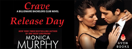 RELEASE DAY GIVEAWAY: CRAVE by Monica Murphy