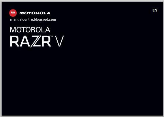 Motorola Razr V Manual Cover