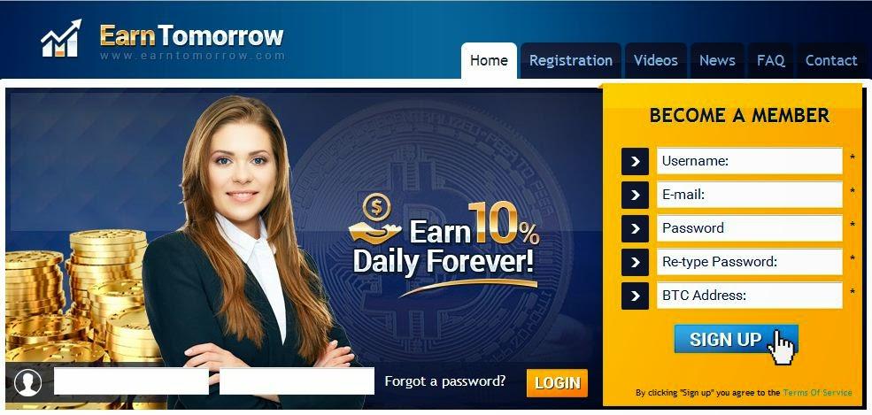 Investasi bitcoin terbaik di earntomorrow terbukti