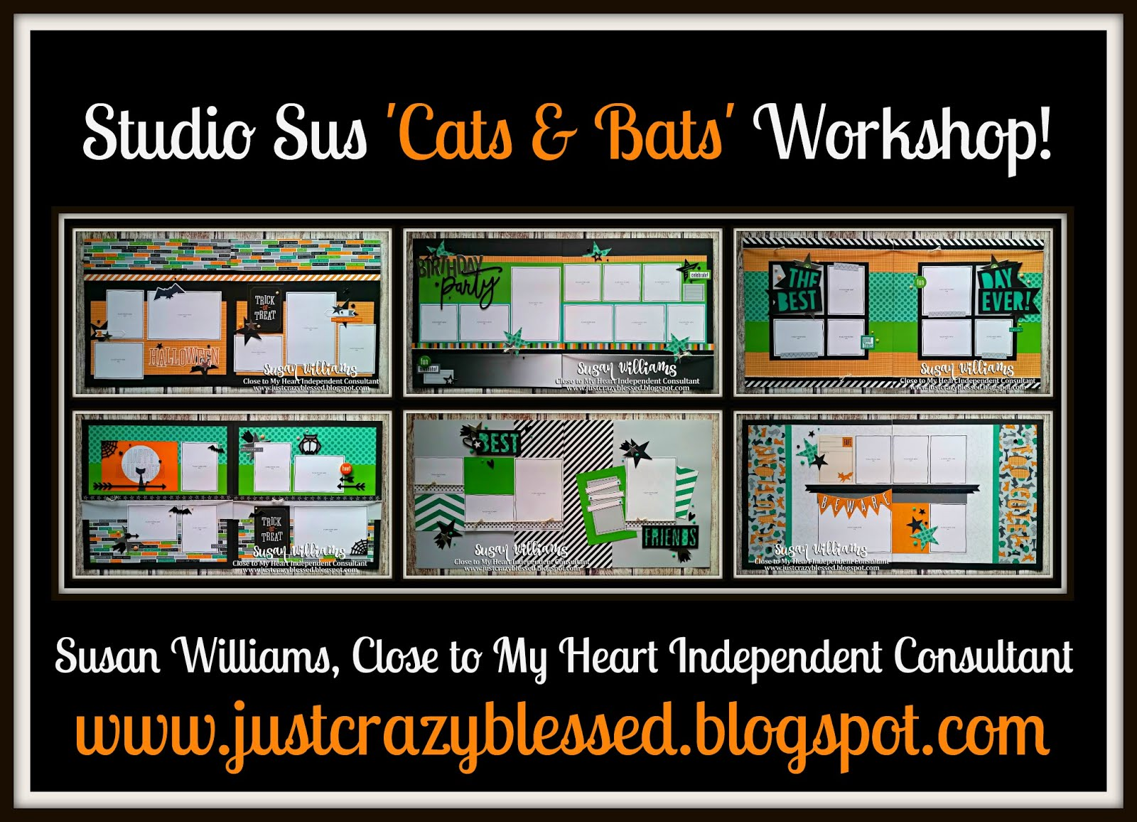 'Cats & Bats' Scrapbooking Workshop!