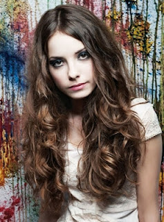Formal long wavy hairstyles 2013