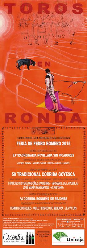 RONDA - Cartel Taurino Feria de Pedro Romero 2015
