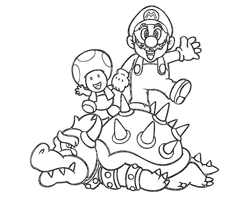 toad coloring pages from super mario - mario luigi and toad coloring pages baby baby mario and