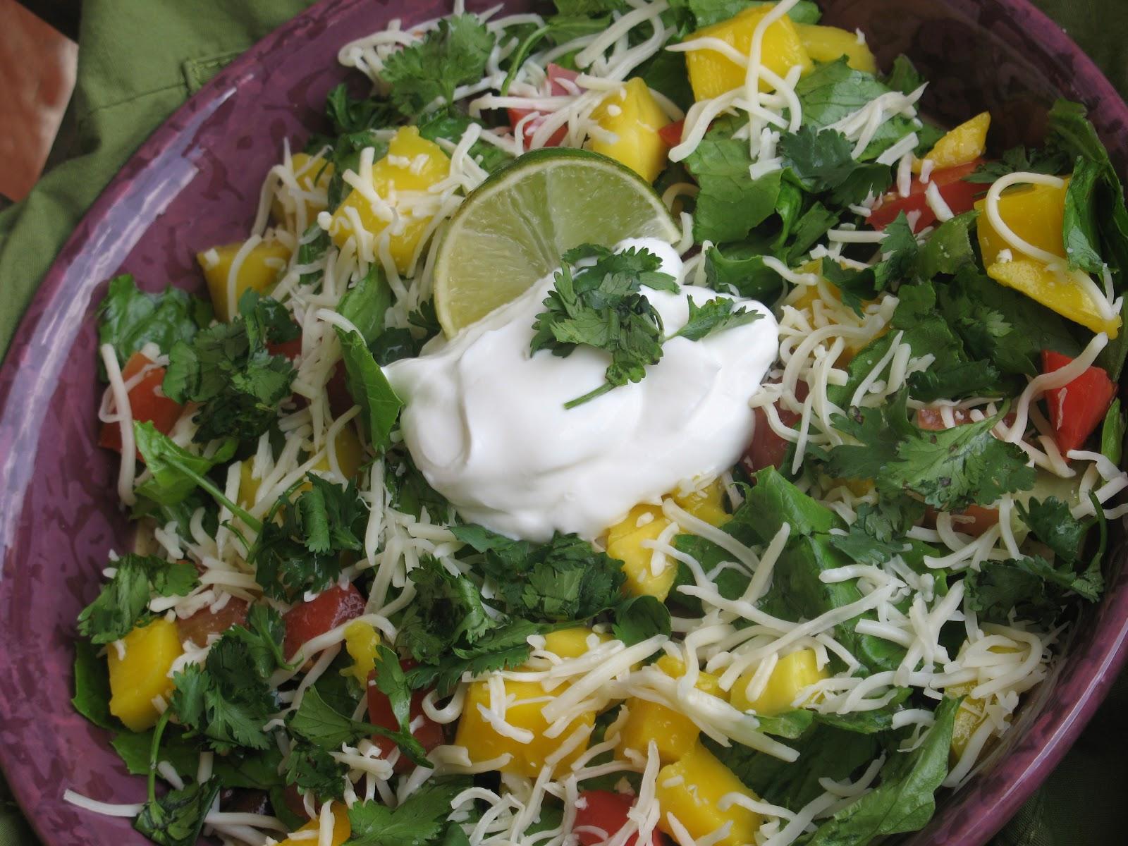 White Family Recipes: Black Bean & Mango Taco Salad