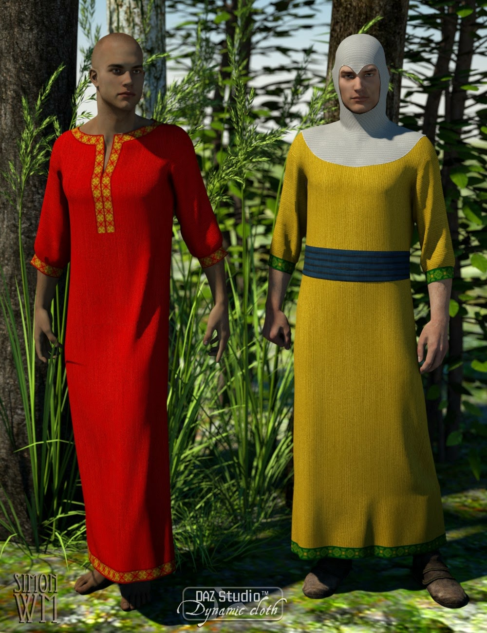 Médiéval fantastique - Dynamic Vêtements pour Genesis et Genesis 2