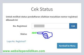 Status pendaftaran pupns sudah aktif