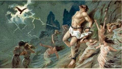 Νίκος Λυγερός: O Προμηθέας ξανασταυρώνεται - Ο Χριστός ξανασταυρώνεται.