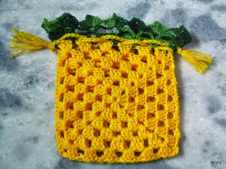 Mira\'s Talent Gallery @ My Hobby Lounge: Granny Square Drawstring ...