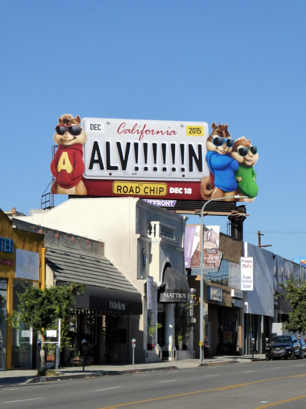 Alvin and the Chipmunks 4 Road Chip billboard