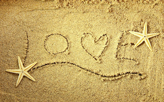 Sand Heart Star Words Love HD Love Wallpaper
