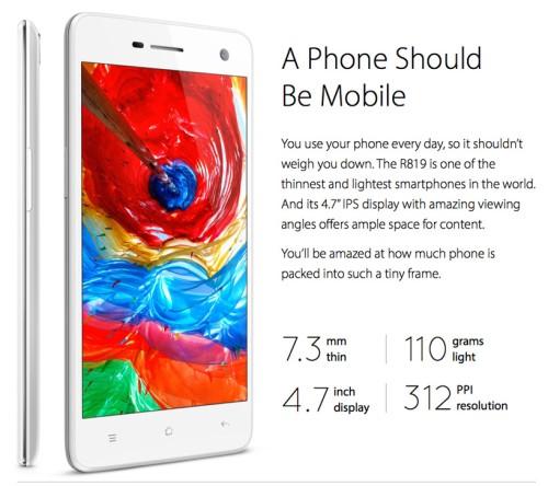 Svelato e già disponibile al pre ordine a 269 euro il nuovo smartphone android Oppo R819