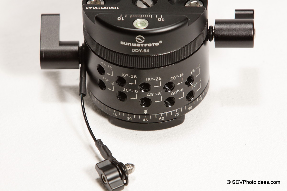 Sunwayfoto DDP-64MX+DDY-64 Detent interval control knob removed