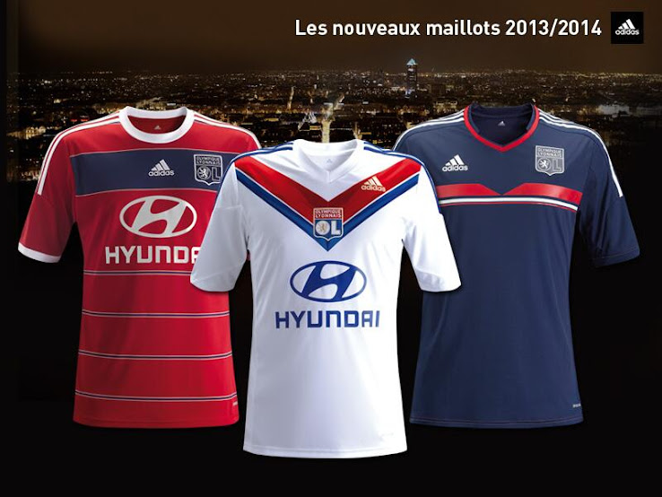 Olympique Lyon OL 13/14 (2013-14) Home + Away + Third Kit Released