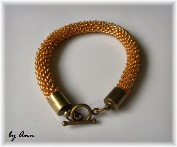 złoto elementy pozłacane wąż koralikowy z koralików Knorr Prandell