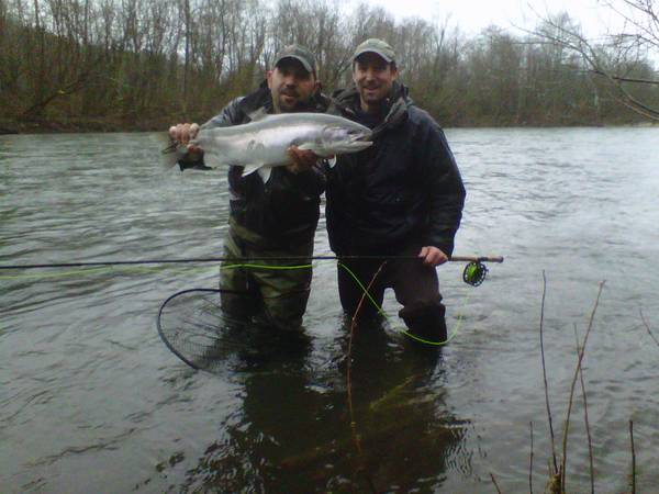Fly fish oregon water time report 2012 winter steelhead for Trask river fishing report