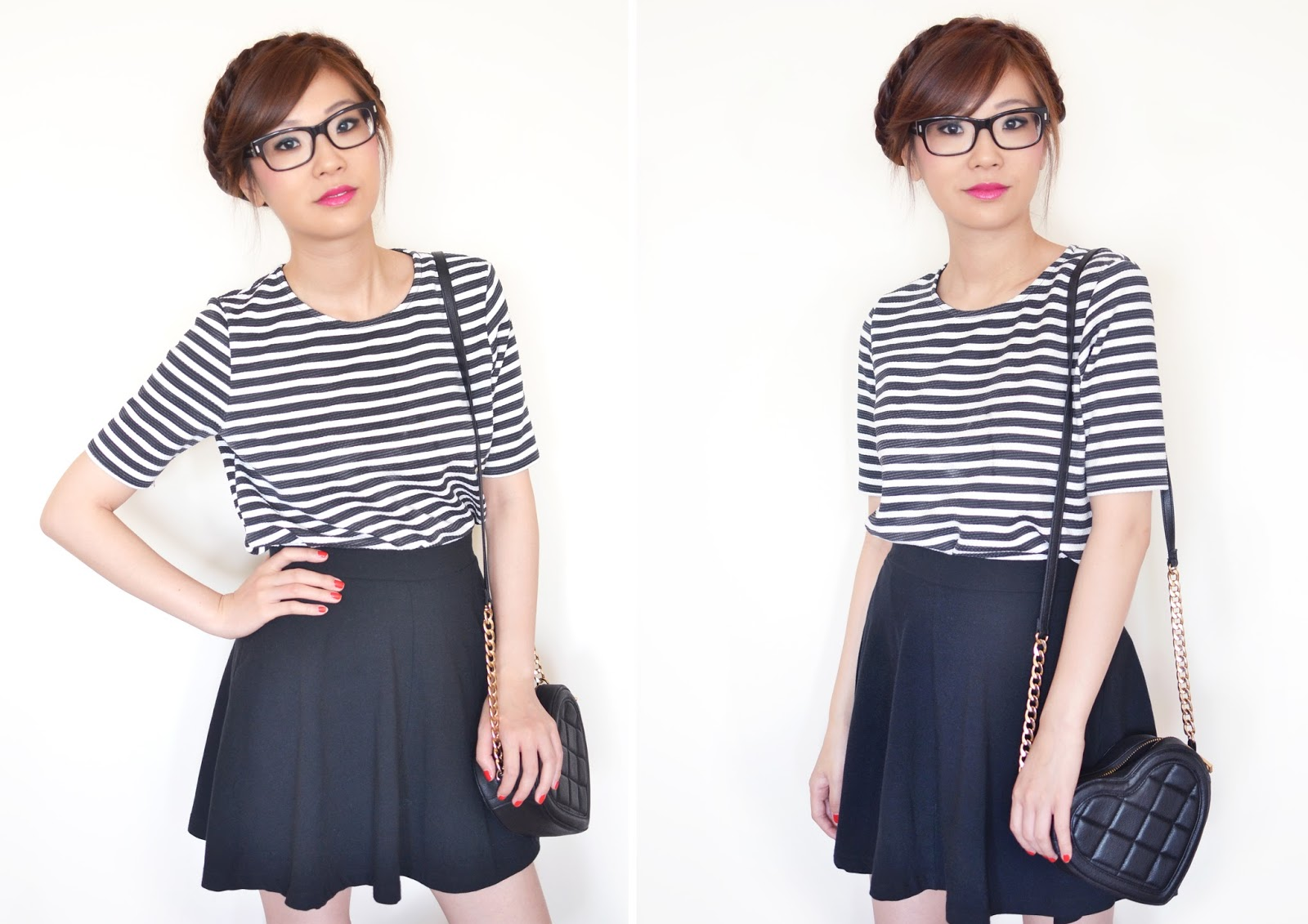 how to wear horizontal stripes, stripy top, black and white stripy top