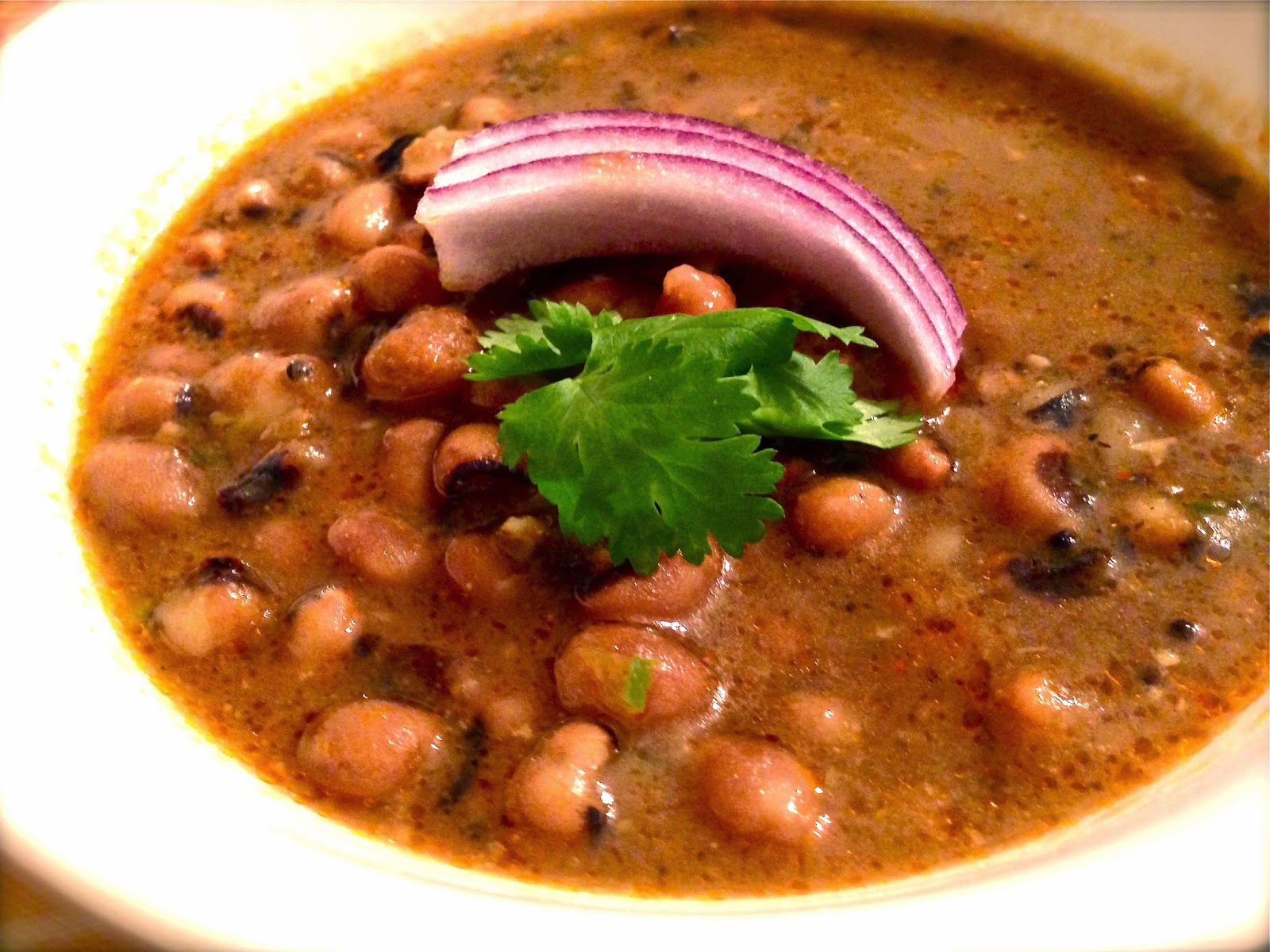 Spicy Black Eyed Peas Soup