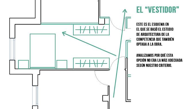 Reformar Baño En Vestidor:El baño principal sí contaba son un espacio digno, sin embargo el