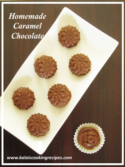 homemade caramel filled chocolate